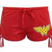 Wonder Woman Stary Logo Mesh Junior Shorts (Small)