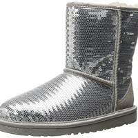 UGG Kids' Classic Short Sparkles (Big)  UGGboots with heel