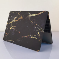 "Cool Black Marble MacBook Air 11"" 13"" Retina 13"" 15"" Pro 15"" 12""  Mac 12"" Case Cover, Novo Rubberized Hard Shell Gift"