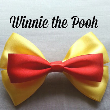 Winnie The Pooh Hairbow