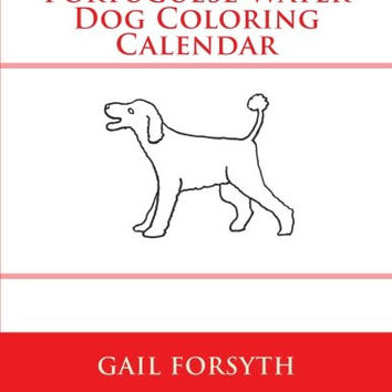 Portuguese Water Dog Coloring Calendar