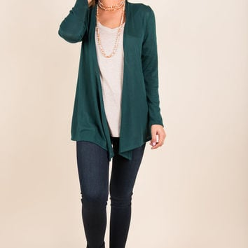 Undeniable Cardigan, Forest Green