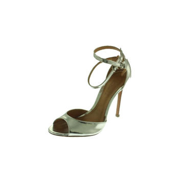 Schutz Womens Leather Peep-Toe Heels