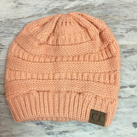 WINTER MORNINGS BEANIE IN BLUSH