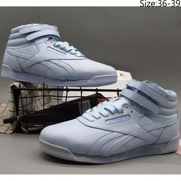 Reebok 2018 counter models men and women trend top casual sports shoes F-A36H-MY blue