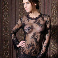 Black Babydoll Lace Sheer Chemise