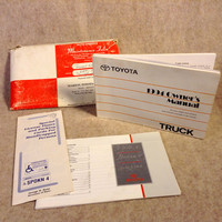 1994 Toyota Truck Owners Manual Packet - Owner's Manual, Owner's Guide and misc. Insert with Service and Trip Record Pouch
