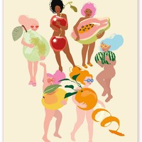 Fruit Nudies Art Print