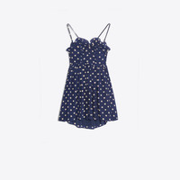 Balenciaga Baby Doll Mini Dress | NAVY / CREME | Women's Dress