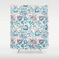 Floral Spring Shower Curtain by Ilola
