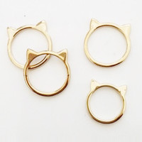 KITTY CAT EARS MIDI RING SET - GOLD - one