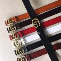 Gucci Fashion Women Men Long Belt