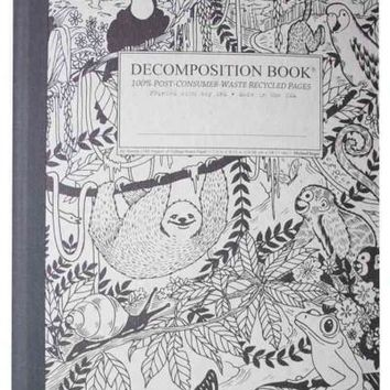 Rainforest Decomposition Book: College-ruled Composition Notebook With 100% Post-consumer-waste Recycled Pages