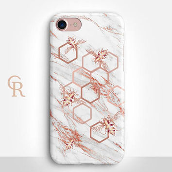 Bee Marble Phone Case For iPhone 8 iPhone 8 Plus iPhone X Phone 7 Plus iPhone 6 iPhone 6S  iPhone SE Samsung S8 iPhone 5 Custom