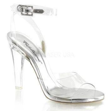 ONETOW Pleaser Female 4 1/2 Inch Heel, Wrap Around Ankle Strap Sandal CLE406