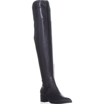 Donald J Pliner Dayle Over The Knee Stretch Boots, Black Leather, 6 US