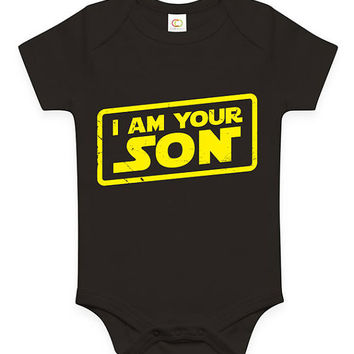 Funny I Am Your Son Baby Clothes Infant Bodysuit Toddler Tee Youth Soft Gift Present Star Wars Parody present Movie Film Fathers Day Set