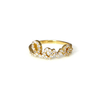 Pave Love Ring
