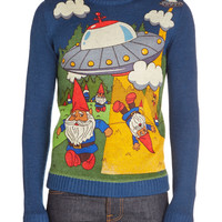 Gnome Away From Home Mens Sweater