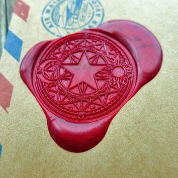 Star Moon Sun Cardcaptor Power Wax Seal Stamp/ with handle