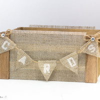 Wedding Card Box Vintage Hessian Wedding Decor Barn Wood Crates Baskets Centerpiece Reception Decor
