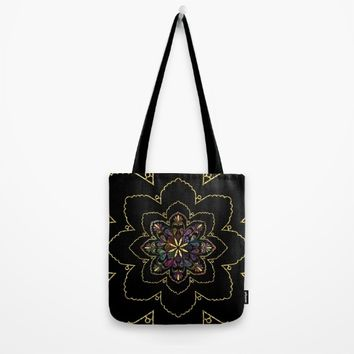 Mandala of Wishes Tote Bag by Starflyer Art