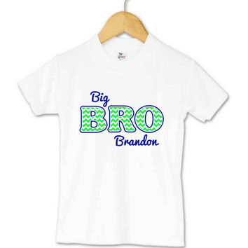 Big Brother Little Brother or Big Sister Little Sister Kid's and Baby Onesuits, T-Shirts and Gowns Personzlied with Names