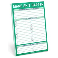 Make Shit Happen Productivity Notepad Stationery
