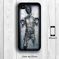 Han Solo Frozen in Carbonite iPhone 5 / 5S Case for Star War Fans Black iPhone 5 Back Cover --000001