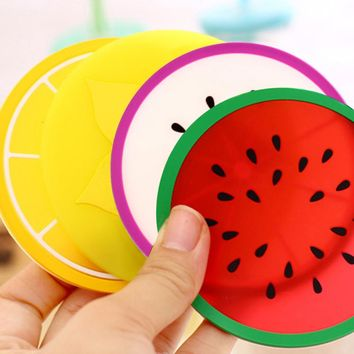 Coaster Fruit Shape Cup Pad Slip Insulation Mat