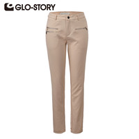 SpringGLO-STORY 2016 New Arrive Women Pants Excellent Quality Full Length Elegant  Pencil Pants Solid 4Color Women Trousers