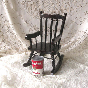 Boston Rocker Doll or Teddy Bear Size Mahogany Wooden , Doll Rocking Chair , Rocker for Large Doll