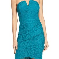 Adelyn Rae Strapless Lace Dress | Nordstrom