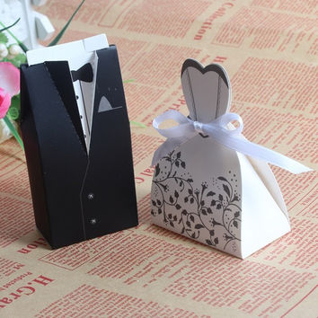 100pcs Bride and Groom box Wedding Favor Boxes Gift box Candy box = 1930108804