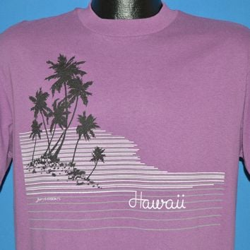 80s Hawaii Beach Palm Trees Tourist t-shirt Large