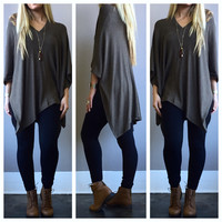 A Flowy Poncho in Cocoa