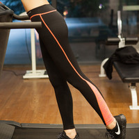 Women Slim Fit Sport Suit Fitness Professional Sportswear Stretch Exercise Yoga  Trousers Pants Legging _ 6815