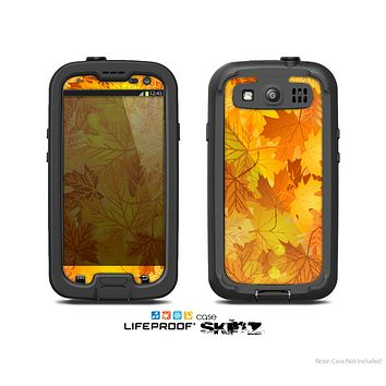 The Abstract Fall Leaves Skin For The Samsung Galaxy S3 LifeProof Case