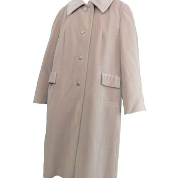 Pink Wool Coat Vintage 70s Coat XL Lorendale by Bromleigh Rockabilly Swing Soft Cuddly Coat