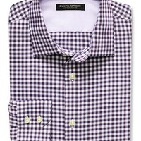 Banana Republic Mens Slim Fit Non Iron Twill Gingham Shirt