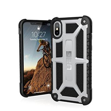 URBAN ARMOR GEAR UAG iPhone X Monarch Feather-Light Rugged [PLATINUM] Military Drop Tested iPhone Case
