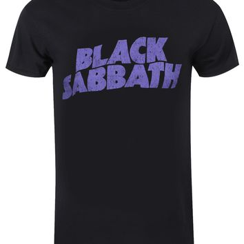 Black Sabbath Wavy Logo Vintage Black Men's T-Shirt