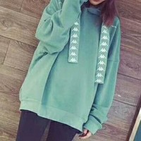 KAPPA round neck long-sleeved sweater autumn skateboard street men and women lovers section I-JJ-LHYCWM