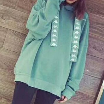 KAPPA round neck long-sleeved sweater autumn skateboard street men and women lovers section