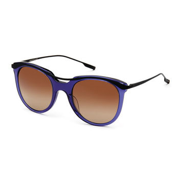 SALT. Elkins Rounded Square Polarized Sunglasses, Blue/Black