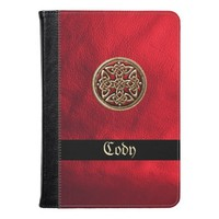 Red Leather and Celtic Knot Kindle Fire Case