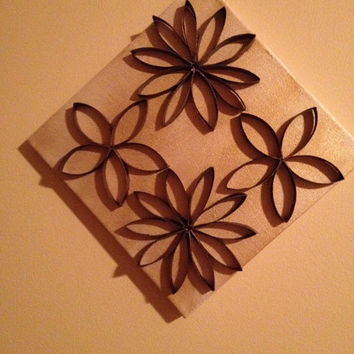 Upcycled Flowers Canvas Wall Art