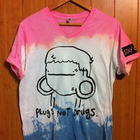 Plugs Not Drugs (Tie Dye V-neck) | STAY GREAT APPAREL
