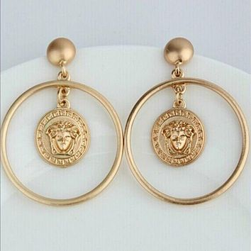 VERSACE Women Fashion Medusa Large Earrings Jewelry