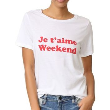 Je T'aime Weekend Tee